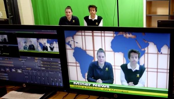 Students Learning Broadcast Skills